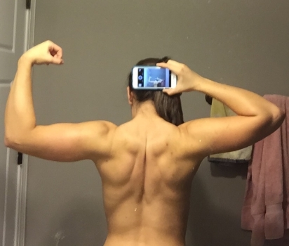 This was taken at the peak of my bulk last winter. My arms were huge and undefined. I built alot of muscle on my back.