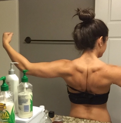 This was taken a couple months ago. I was leaning out here. You can see my arms and back are much more defined.